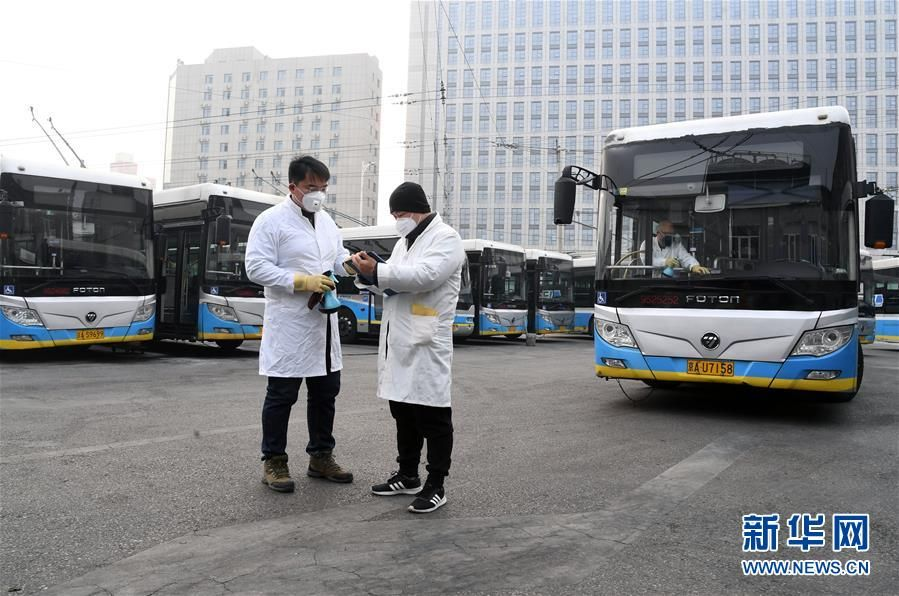北京公交:加强车辆卫生消毒 保障市民乘车安全