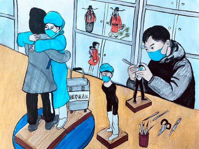 用漫画讲述基层一线的抗疫故事