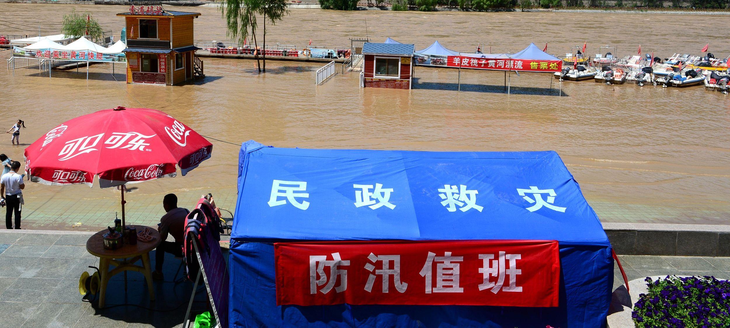 黄河遇今年第1号洪水 黄河兰州段接近警戒水位