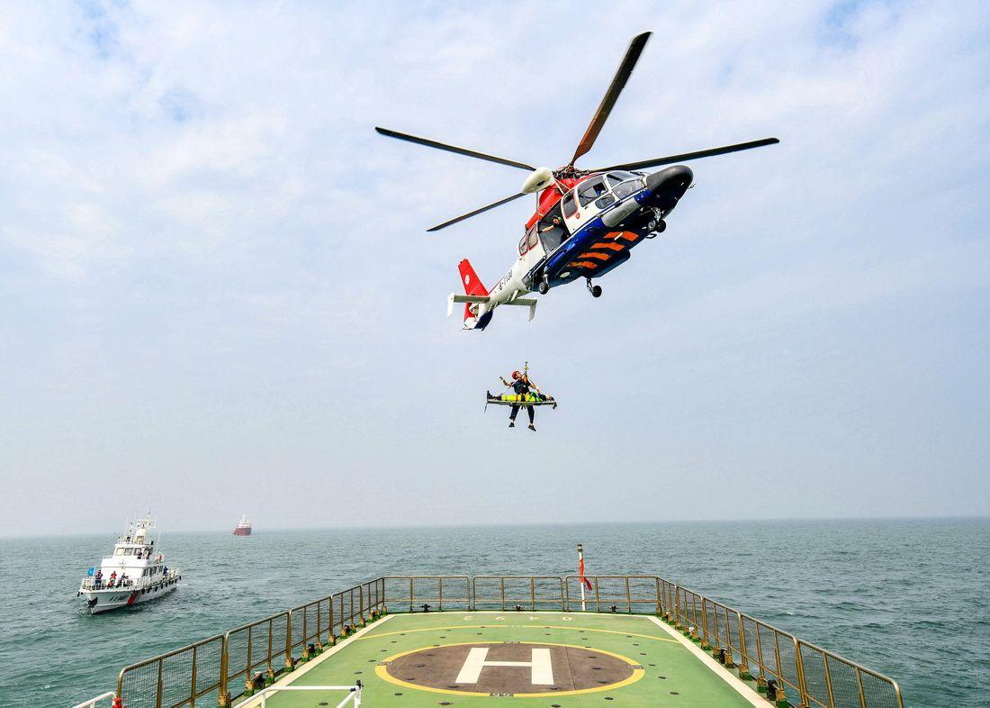 国家海上搜救无脚本实战演练在河北曹妃甸海域举行
